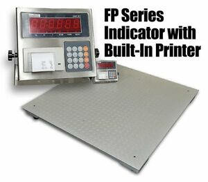 10 000 Lbs Capacity 4 x4 Floor Pallet Scale Industrial Indicator With Printer