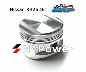 Ross Forged Pistons Rings 1 00 For Nissan Skyline Ecr33 93 98 Rb25det Turbo