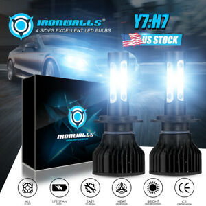 H7 Ironwalls Led Headlight Conversion Kit 1700w 255000lm Lamp Light Bulbs 6000k