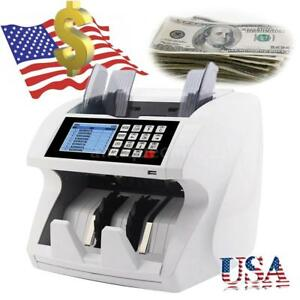 Lcd Money Bill Auto Counter Value Mix Counting W Uv Mg Ir Counterfeit Detector