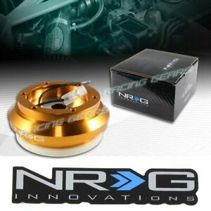 Nrg Steering Wheel Gold Short Hub Adapter Fit 94 01 Acura Integra 93 97 Del Sol