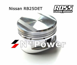 Ross Forged Pistons Rings 0 50 For Nissan Skyline Ecr33 93 98 Rb25det Turbo