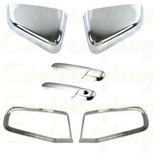 Ford 2010 11 12 2013 Mustang Chrome Mirror Tail Light Bezel 2 Door Handle Covers
