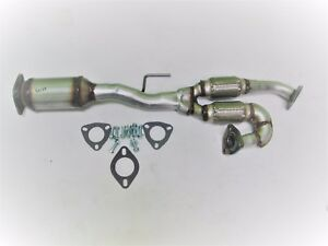 Fits 2004 2005 Nissan Maxima Rear Catalytic Converter W Y pipe 4 Speed Trans