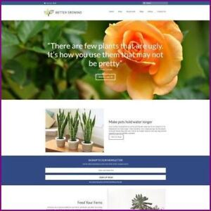 Plants Website Business For Sale earn 4 84 A Sale free Domain free Hosting