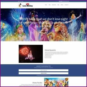 Disney Website Business For Sale earn 65 99 A Sale free Domain free Hosting