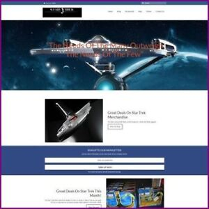 Star Trek Website Business For Sale earn 40 00 A Sale free Domain free Hosting