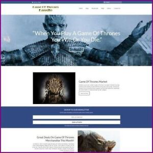 Game Of Thrones Website Business For Sale earn 703 92 A Sale free Domain hostin