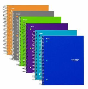 Five Star Spiral Notebooks 5 Subject College Ruled 11 X 8 1 2 Trend Assor