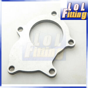 T3 T3 T4 5 Bolt Turbo Outlet Exhaust Downpipe Flange Adapter Mild Steel