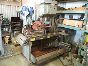 Hem Model V100lm 2 Manual Vertical Band Saw 18 x20 5hp 220 3 Phase Powered