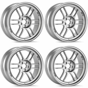 Enkei 379 670 6543sp Rpf1 16x7 5x114 3 43mm Offset 73mm Bore Silver set Of 4