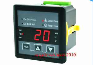 Power Generator Oil Press Water Temp Voltage Working Time Digital Panel Meter