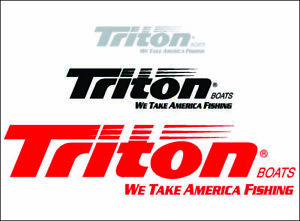 Triton Boats Logo Cut Vinyl Vehicle Watercraft Fishing Decal Window Sticker