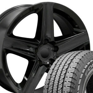 20x9 Rims Tires Fit Jeep Dodge Cherokee Style Black Wheels Gy Tires 9082