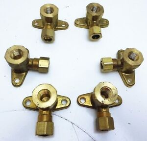 Garland Range stove oven 1 4 Natural Lp Gas Flanged Brass Elbow 6 Pk g014