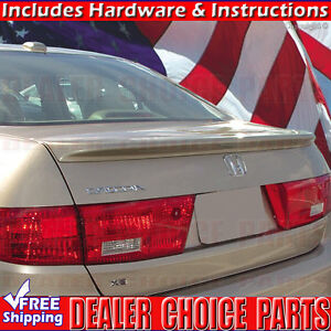 2003 2005 Honda Accord 4dr Lip Factory Style Spoiler Wing Primer Coated