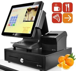 Celeron J1900 pos restaurant Touch station 4gb Msr Windows 10 Pcamerica Rpe