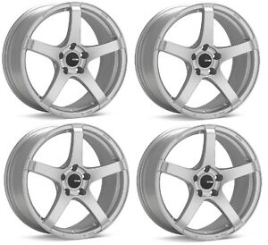 Enkei 477 570 4800gm Compe 15x7 0mm Inset 4x114 3 Bolt Gunmetal Set Of 4