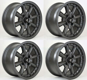 Enkei 477 680 4800gm Compe 16x8 0mm Inset 4x114 3 Matte Dia Gunmetal Set Of 4