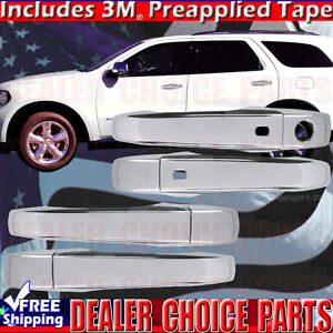 For 2011 2020 Jeep Grand Cherokee Chrome Door Handle Covers W Smart Key Holes