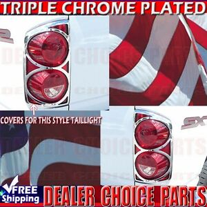 2007 2008 Dodge Ram 1500 Triple Chrome Tail Light Bezel Covers Overlays Trim