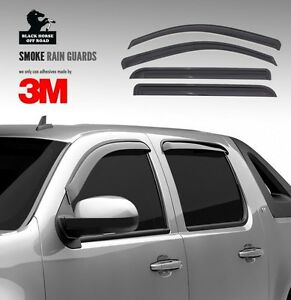 Black Horse 2001 2004 Toyota Tacoma Window Vent Visor Rain Guards Sun Shades