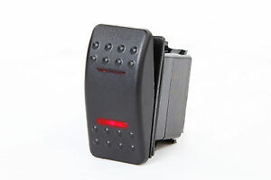 Marine Boat Truck Rocker Switch On off on Spdt 2 Red Led 4 Pin Car Rv Motorcycle