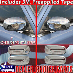 2006 2007 2008 2009 2010 Dodge Charger Chrome Door Handle Mirror Covers Trims