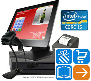 I5 pos retail Complete Touch station 4gb Msr Windows 10 Pcamerica Cre New