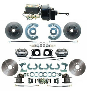 64 66 Ford Mustang Front Rear Disc Brake Kit W M C Booster Prop Valve 8 9