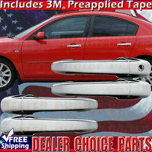 2004 2009 Mazda 3 06 10 5 03 08 6 Chrome Door Handle Covers Overlays W O Psk