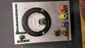 Weston Simpson 0 20 Ua 0 200 Vdc Lab Meter Mod 301 Vintage Panel 3 5 T8