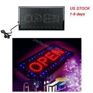 Usa Stock Bright Led 2 In1 Open Close Store Shop Business Sign Display Neon