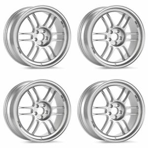 Enkei 379 810 6538sp Rpf1 18x10 5x114 3 38mm Offset 73mm Bore Silver set Of 4