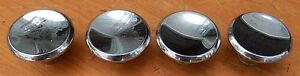 4 Vintage Chrome Mid Century 50 S 60 S Cabinet Knobs Drawer Pulls