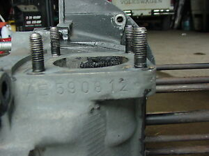 Used Type 1 2 Ae Engine Case Block Volkswagen Vw 1600cc Bug Ghia Bus Dual Port