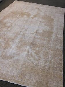 Authentic Vintage Persian Area Rug 7 4 X 11 Oushak Over Dyed Hand Knotted