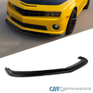 10 13 Chevy Camaro V8 Black Pp Zl1 Style Front Bumper Chin Lip Spoiler Body Kit