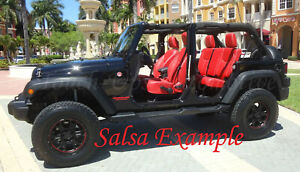2013 2017 Jeep Wrangler Jk Katzkin Leather Seats New Salsa Red Custom Perforated