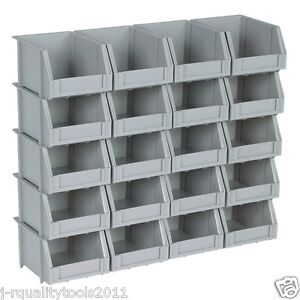 Small Mini Plastic Parts Bin Storage Rack For Organizer Bolts Beads 20 Bins
