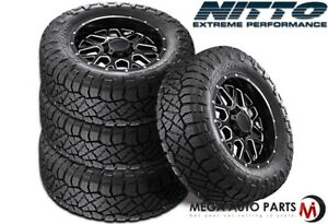4 X New Nitto Ridge Grappler 33x12 50r22lt F 12 114q All Terrain Mud Tires