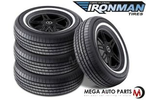 4 New Ironman Rb 12 Nws 225 75r15 102s White Wall All Season Performance Tires