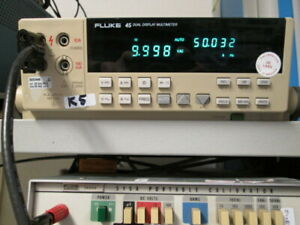 Fluke 45 Dmm Tested Opt 05 Gpib Bright Display Dual Function Accurate Readings