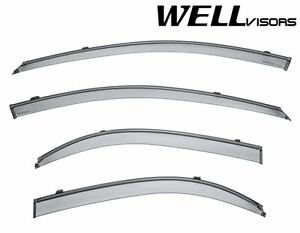 For 04 09 Kia Spectra Sedan Clip on Wellvisors Side Window Visors W Black Trim