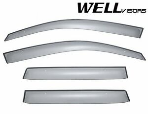 Wellvisors Clip On Style Smoke Side Window Visors For 03 06 Mitsubishi Outlander