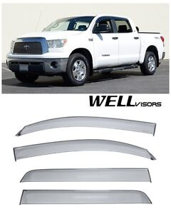 For 07 Up Toyota Tundra Crew Max Wellvisors Side Window Visors Premium Series