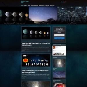 Astronomy Store Business Website For Sale Mobile Friendly Responsive Design
