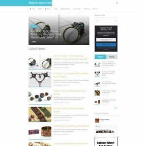 Beading Store Established Online Business Website For Sale Mobile Friendly
