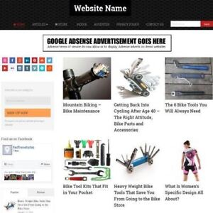 Established Cycling Store Online Business Website For Sale Free Domain